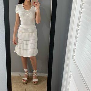 Bcbgmaxazria white knitted dress
